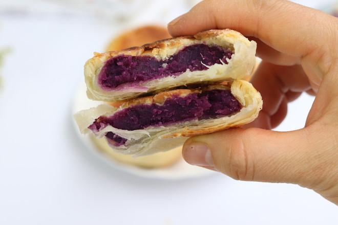 过年必备零食紫薯酥饼怎样煸