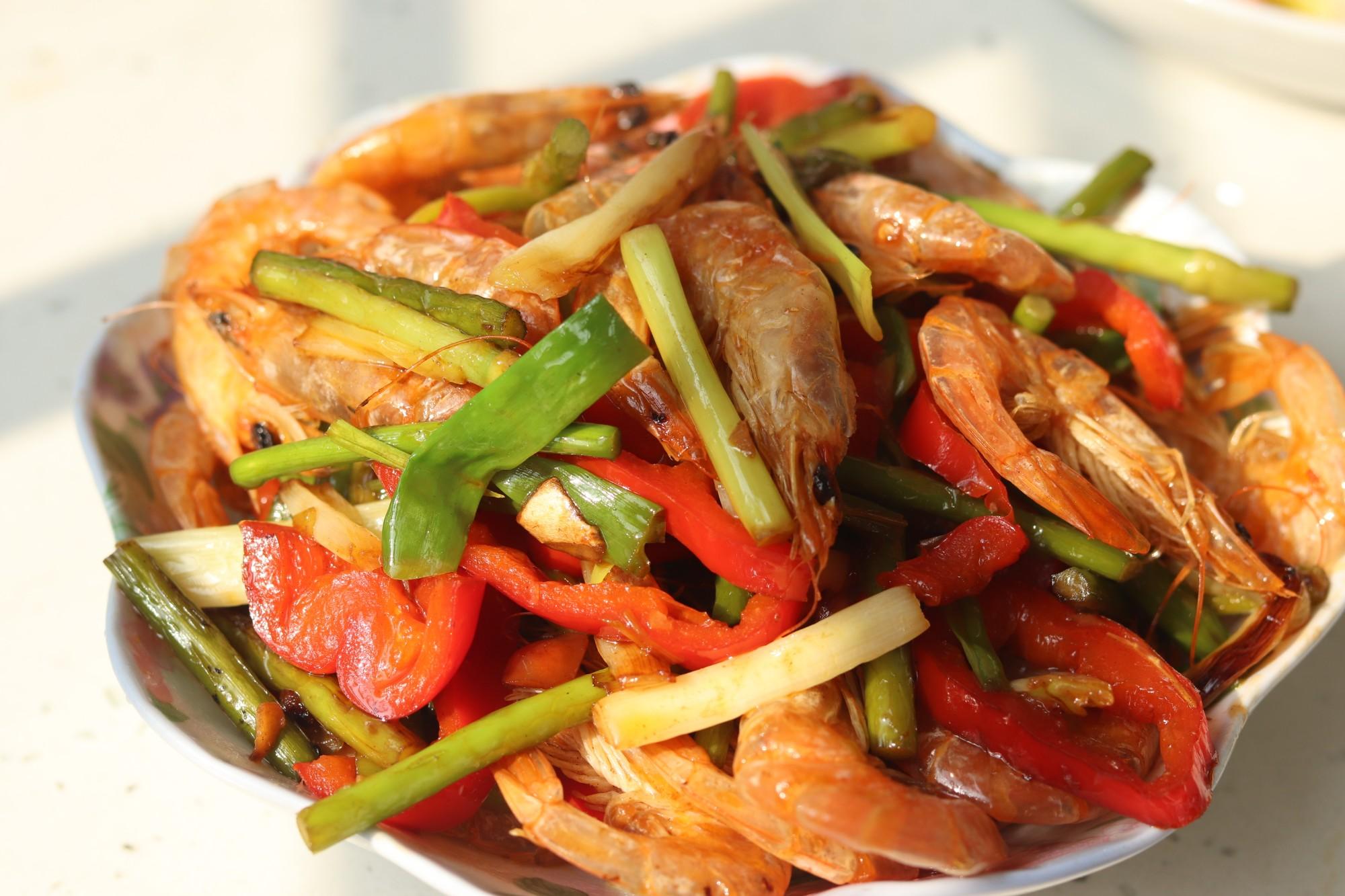 蒜苔虾怎么炒