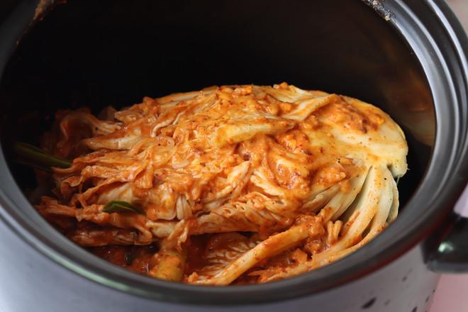 腌制辣白菜成品图