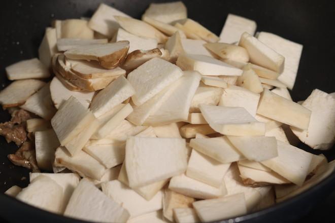 杏鲍菇木耳炒肉片的简单做法