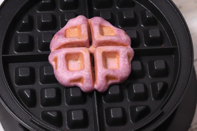 不用烤箱,不用面包机轻松做紫薯豆沙华夫饼,早餐再也不用起早做怎么炖