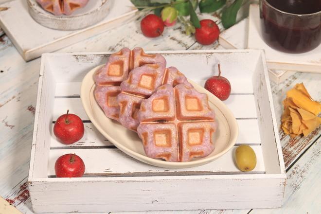 不用烤箱,不用面包机轻松做紫薯豆沙华夫饼,早餐再也不用起早做怎么煸