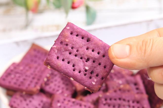 紫薯饼干,外酥里软怎么吃