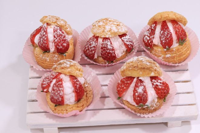 酥皮草莓怎样做