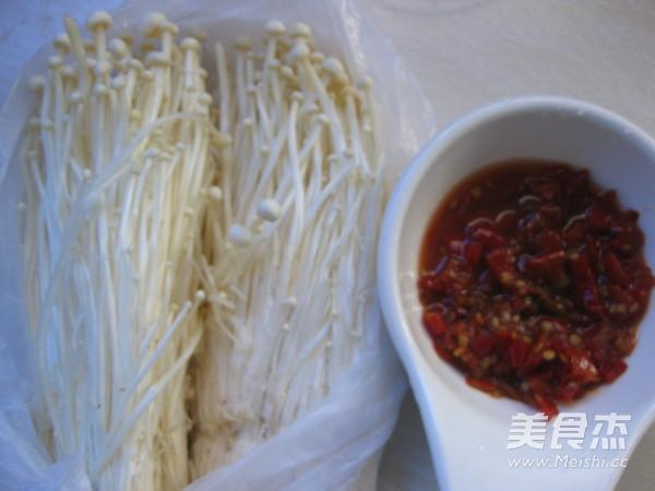 剁椒蒸金针菇的做法图解