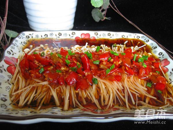 剁椒蒸金针菇怎么做