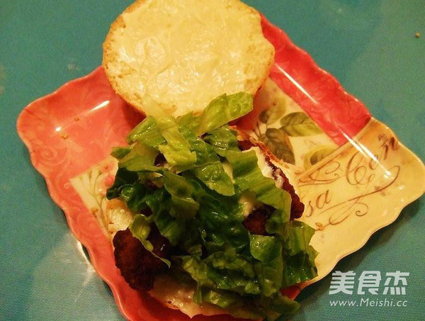 香辣鸡胸脯汉堡的简单做法