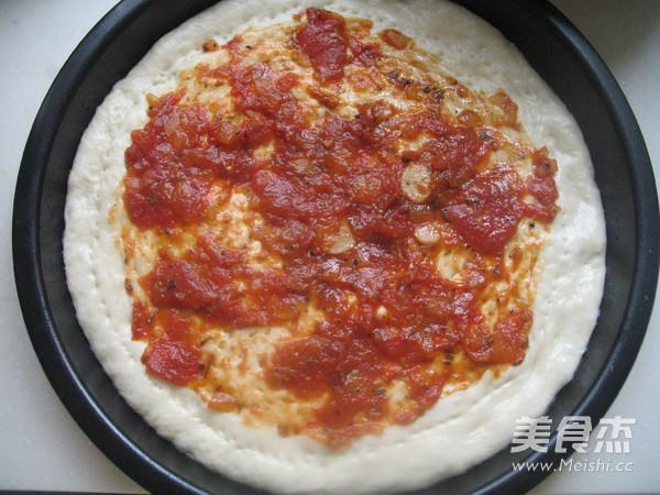 意式鲜虾肉丸披萨的制作