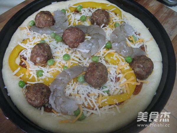 意式鲜虾肉丸披萨的做法大全