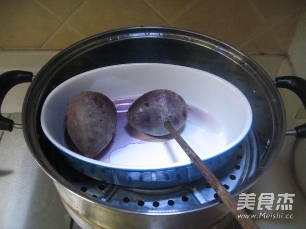 紫薯红豆沙吐司的做法大全