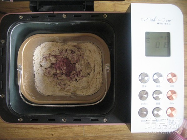 紫薯红豆沙吐司的简单做法