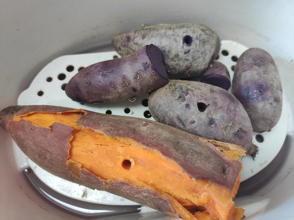 颜值担当!紫薯糯米糍!的做法大全