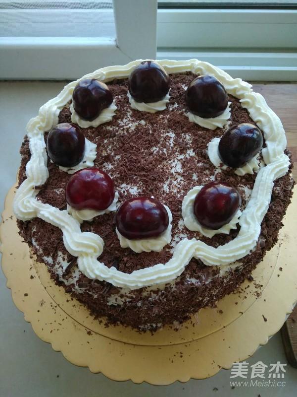樱桃黑巧生日蛋糕的制作方法