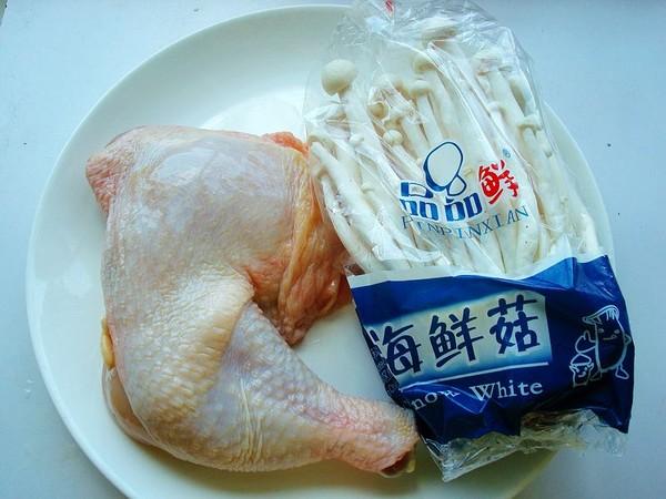 海鲜菇蒸鸡的做法大全