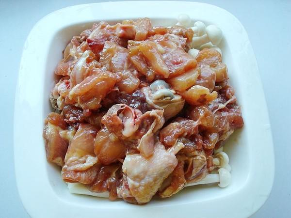 海鲜菇蒸鸡怎么吃