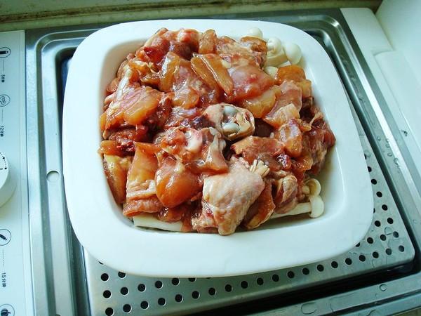 海鲜菇蒸鸡怎么做