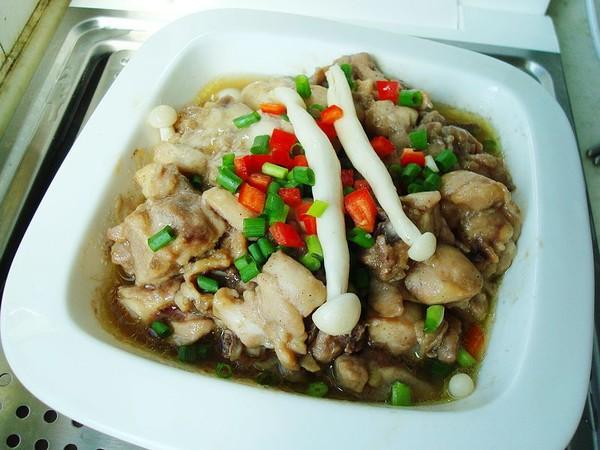 海鲜菇蒸鸡怎么煮