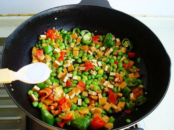 毛豆香干炒肉丁怎么煮