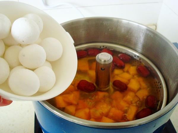 红枣南瓜煮汤圆怎么炒