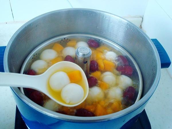 红枣南瓜煮汤圆怎么煸
