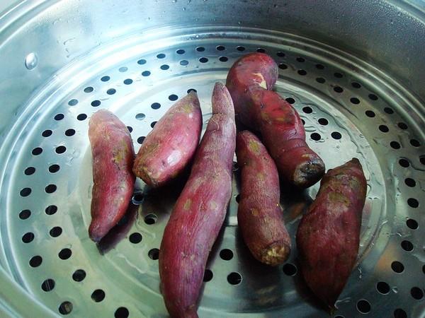 炸鸡蛋红薯丸子的做法图解
