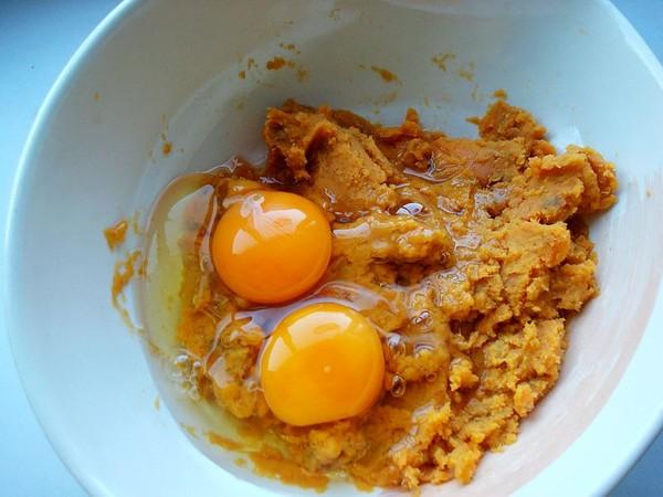 炸鸡蛋红薯丸子怎么吃