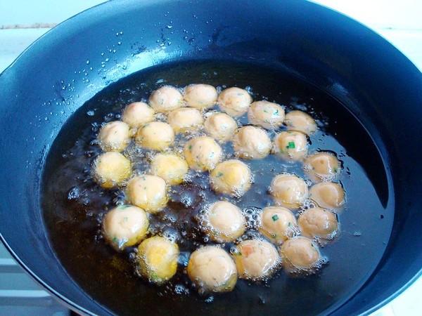炸鸡蛋红薯丸子怎样做