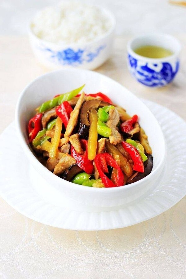 榨菜香菇炒肉成品圖