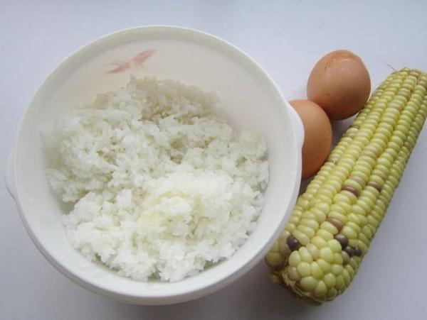 玉米鸡蛋米饭饼的步骤