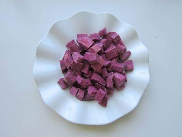 奶香紫薯米糊的家常做法