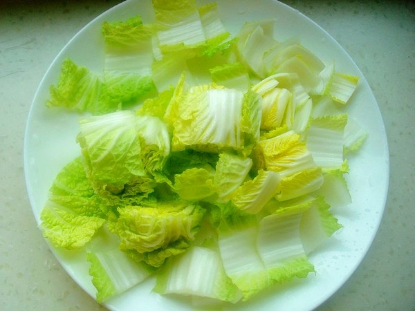 白菜豆腐炖血块的做法图解