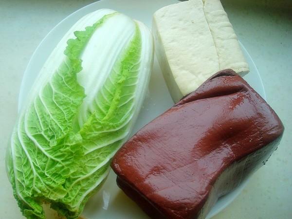 白菜豆腐炖血块的做法大全