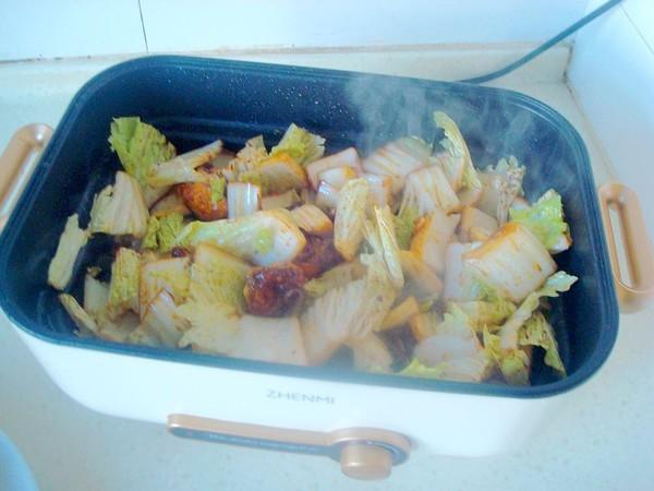 鸡肉白菜炖腐竹怎么炒