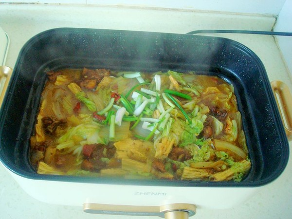 鸡肉白菜炖腐竹怎么煸