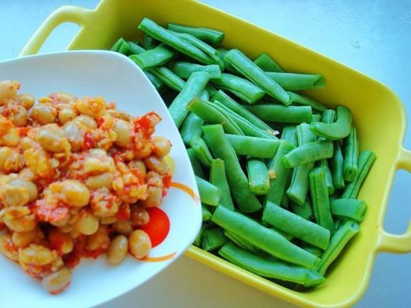 黄豆辣椒酱蒸四季豆的家常做法
