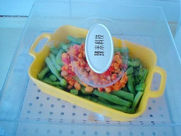 黄豆辣椒酱蒸四季豆的简单做法