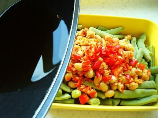 黄豆辣椒酱蒸四季豆怎么做