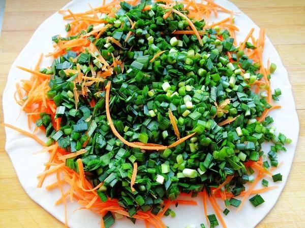 韭菜胡萝卜鸡蛋烙饼怎么吃