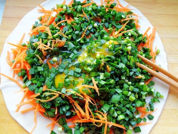 韭菜胡萝卜鸡蛋烙饼怎么做