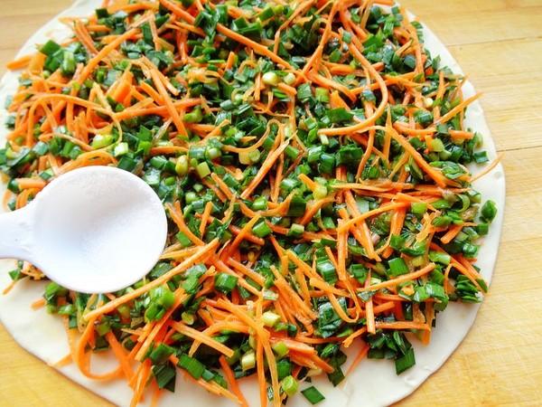 韭菜胡萝卜鸡蛋烙饼怎么煮