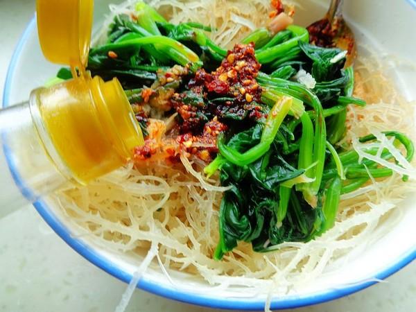 菠菜拌石花菜怎么炒
