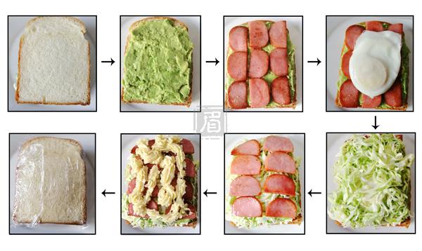 牛油果三明治的做法图解