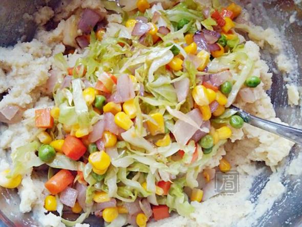 土豆杂菜饼怎么做