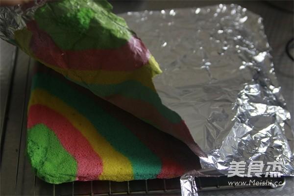 彩虹蛋糕卷怎样煸