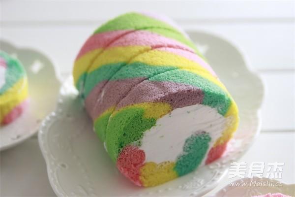 彩虹蛋糕卷的制作