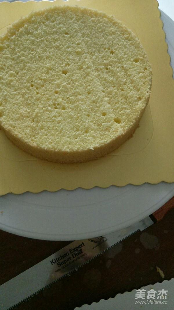 6寸威风蛋糕(2个鸡蛋)成品图