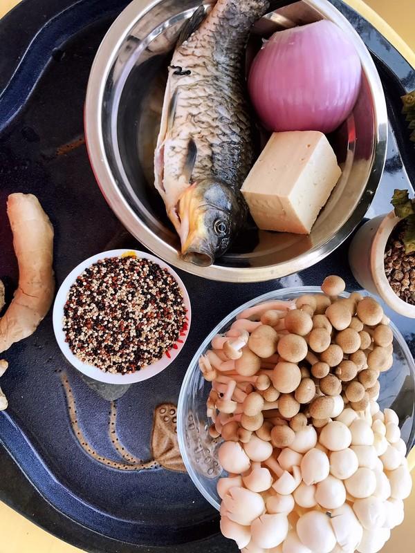 藜麦鲫鱼豆腐汤的做法图解