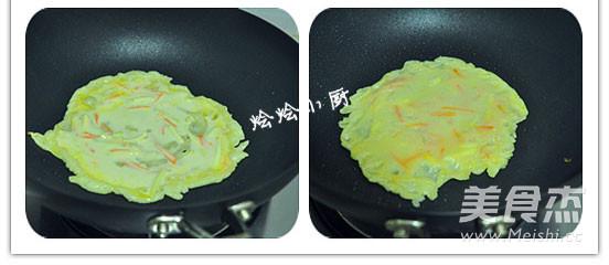 蔬菜淋饼的步骤