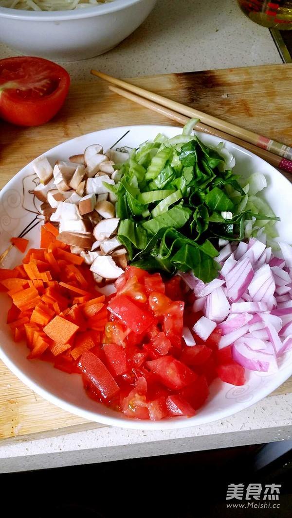 蔬菜炒面的做法图解