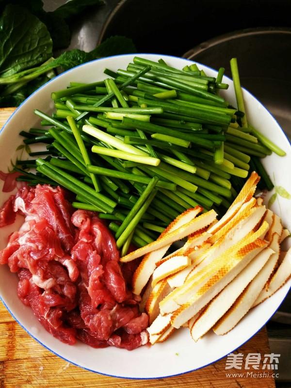 韭菜苔炒牛肉香干的做法大全